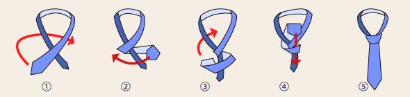 シングルノットの結び方