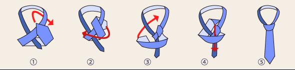 ハーフウィンザーノットの結び方